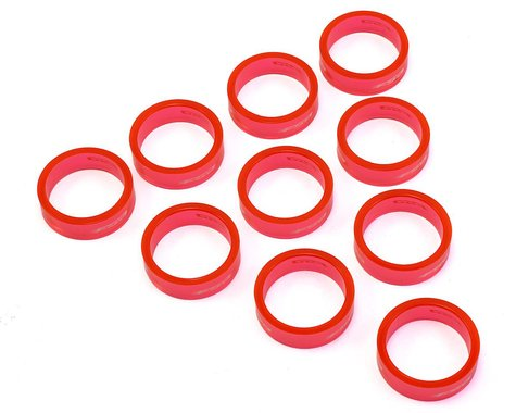 """FSA PolyCarbonate Headset Spacers (Red) (1-1/8"""") (10) (10mm)"""
