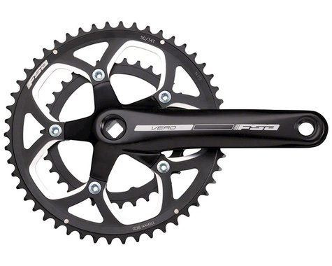 FSA Vero Compact Crankset (Black) (2 x 9 Speed) (JIS Square Taper) (172.5mm) (50/34T)
