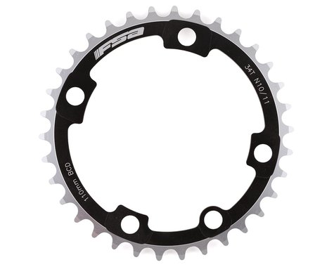 FSA Super ABS 4-Bolt Chainring (Black) (110mm BCD) (34T)