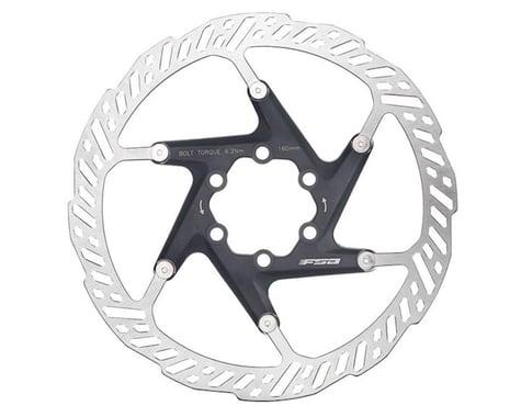 FSA K-Force 2 Piece Disc Brake Rotor (Black) (6-Bolt) (1) (180mm)