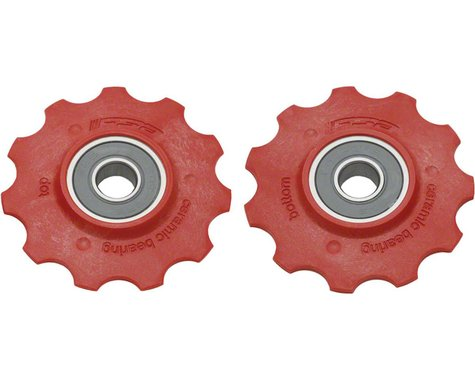 FSA Derailleur Pulleys with Ceramic Cart Bearings - Shimano Red