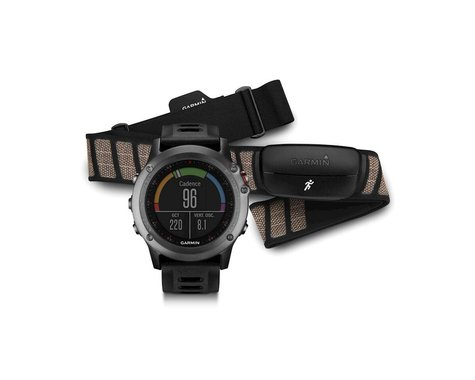 Garmin Garmin, Fenix 3, Watch with HR monitor, Grey/Black, 010-01338-10
