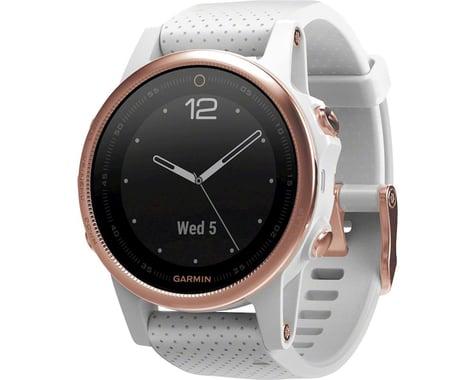 Garmin Fenix 5S Sapphire GPS Watch (Rose Gold/White)