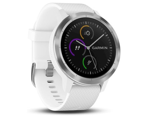 Garmin Vivoactive 3 GPS Smartwatch (White/Stainless)
