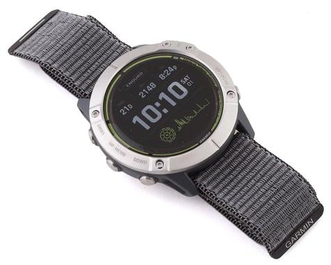 Garmin Enduro Watch (Stainless Steel) (Grey UltraFit Nylon Strap)