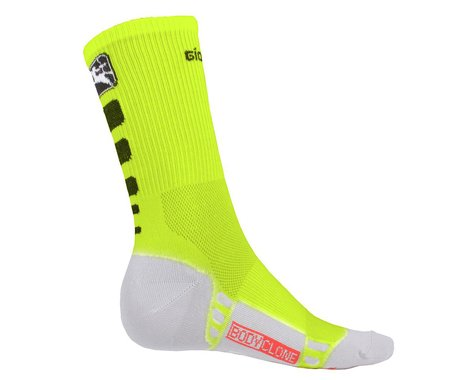 Giordana Men's FR-C Tall Cuff Socks (Fluo/Black) (L)