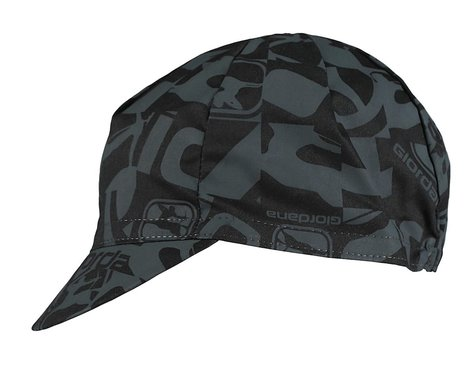 Giordana Camo Cotton Cycling Cap (Black) (One Size Fits Most)