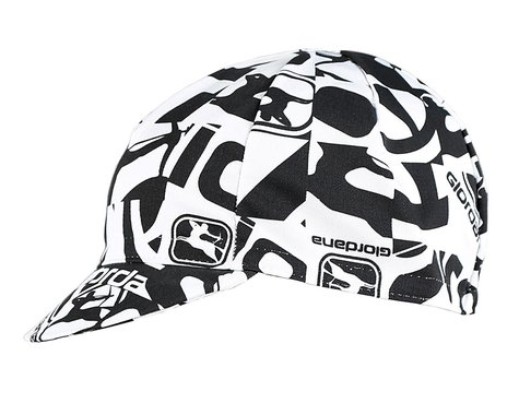 Giordana Camo Cotton Cycling Cap (White/Black) (One Size Fits Most)