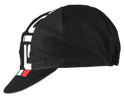 Giordana Logo Cotton Cycling Cap (Black/White) (One Size Fits Most)