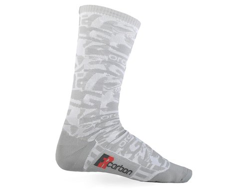 Giordana FR-C Tall Sock Camo (White/Grey) (L)