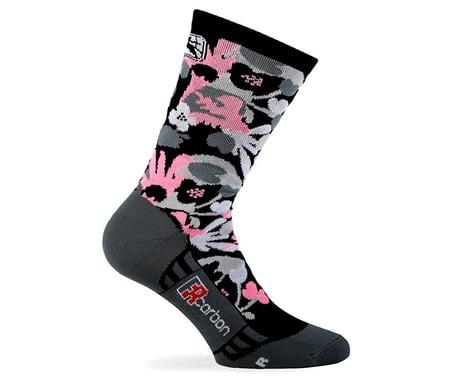 Giordana Women's FR-C Tall Cuff Sock (Pink/Black) (S)