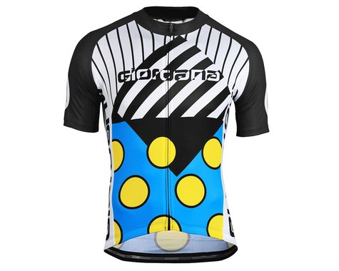 Giordana Motivo 2 Jersey (Blue/Black/White/Yellow) (S)