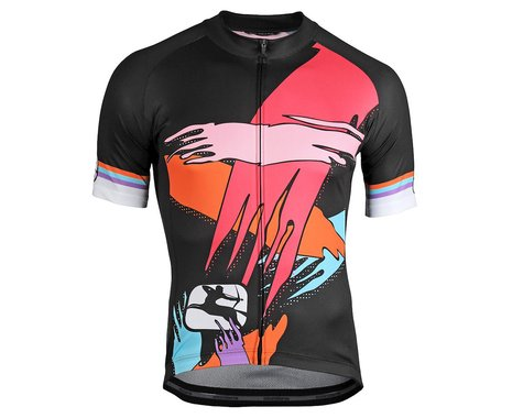Giordana Saggitario Jersey (Black/Pink/Orange) (XL)