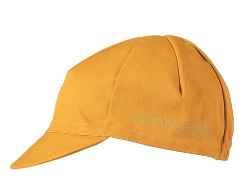 Giordana Solid Cotton Cycling Cap (Mustard) (One Size Fits Most)
