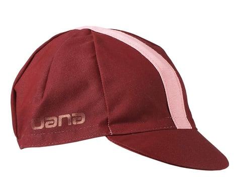 Giordana Solid Cotton Cycling Cap w/ Ribbon (Sangria) (Universal Adult)