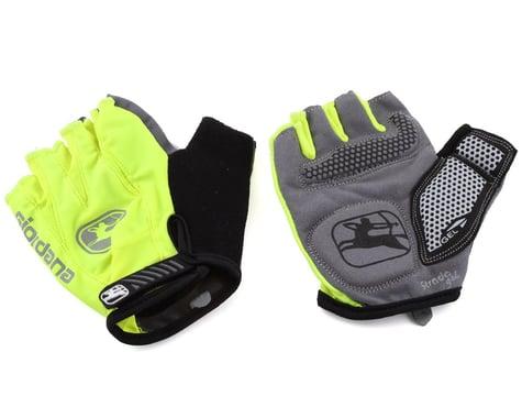 Giordana Strada Gel Short Finger Gloves (Fluo Yellow) (M)