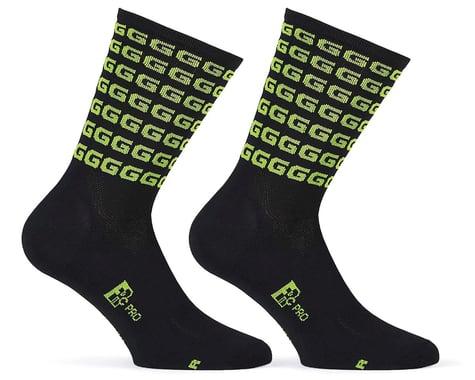 "Giordana FR-C Tall ""G"" Socks (Black/Acid Green) (S)"