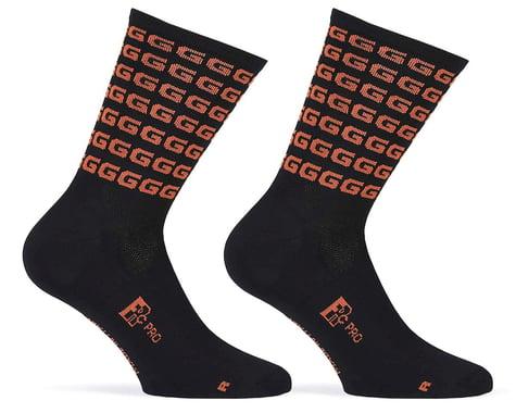 """Giordana FR-C Tall """"G"""" Socks (Black/Rust) (L)"""