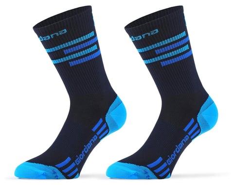Giordana FR-C Tall Lines Socks (Midnight Blue/Blue) (M)