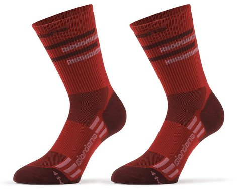 Giordana FR-C Tall Lines Socks (Sangria) (M)