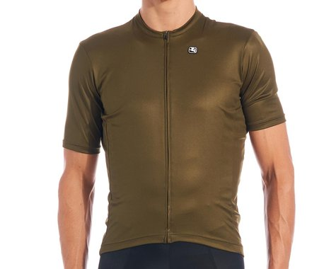 Giordana Fusion Short Sleeve Jersey (Oilve Green) (M)