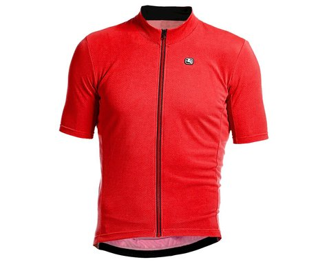 Giordana Fusion Short Sleeve Jersey (Watermelon Red/Black) (M)
