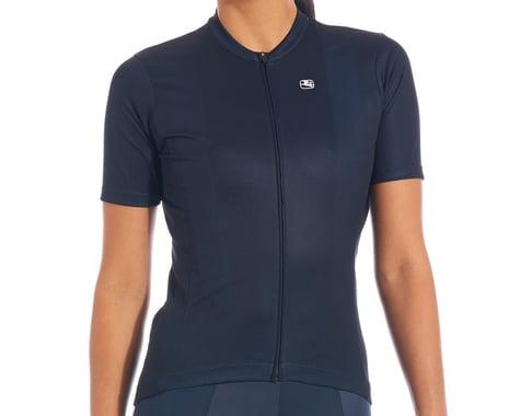 Giordana Women's Fusion Short Sleeve Jersey (Midnight Blue) (L)