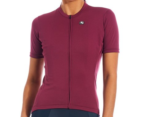 Giordana Women's Fusion Short Sleeve Jersey (Sangria) (S)