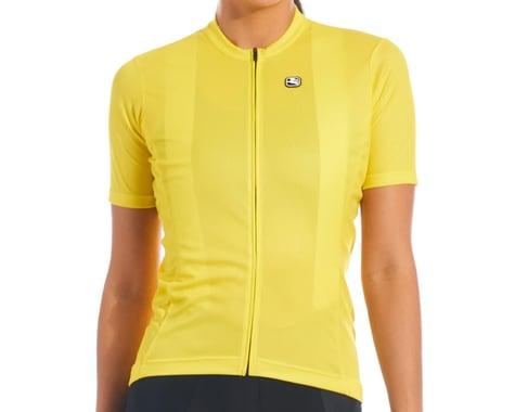 Giordana Women's Fusion Short Sleeve Jersey (Meadowlark Yellow) (M)