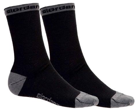 "Giordana Merino Wool Socks (Black) (5"" Cuff) (S)"