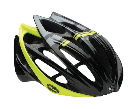 Giro Bell Gage Road Helmet (Black/Hi Vis Yellow Draft)