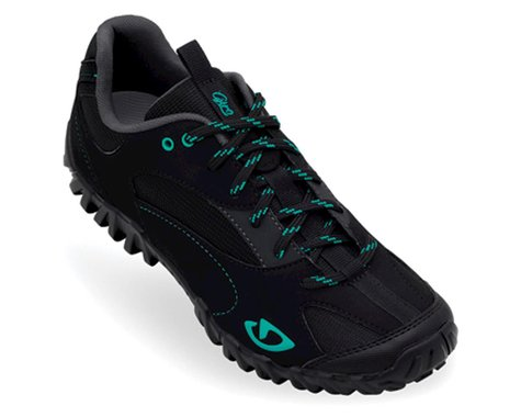 Giro Women's Petra Mountain Shoes - Closeout (Black/Dynasty Green)