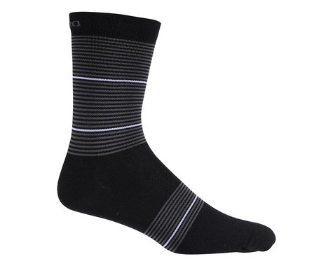 Giro Merino Seasonal Wool Socks (Black/White Stripe)