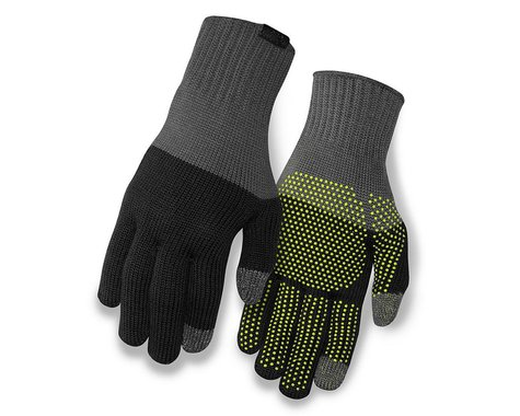 Giro Merino Wool Bike Gloves (Grey/Black) (S/M)