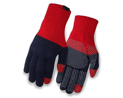 Giro Merino Wool Bike Gloves (Red/Dress Blue)