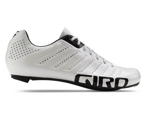 Giro Empire SLX Lace-Up Bike Shoes (White/Black) (43)