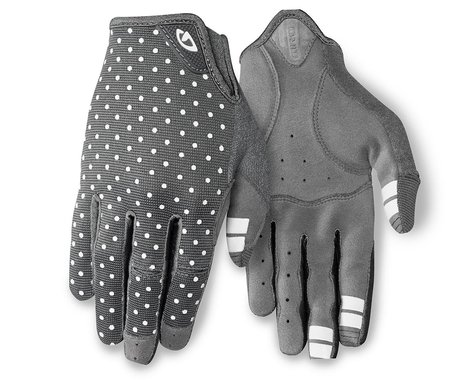 Giro Women's LA DND Gloves (Grey/White Dots) (M)