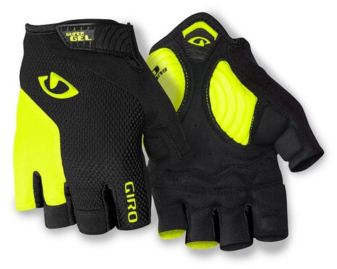Giro Strade Dure Supergel Short Finger Gloves (Yellow/Black) (XL)