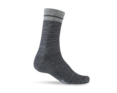 Giro Winter Merino Wool Socks (Charcoal/Grey) (M)