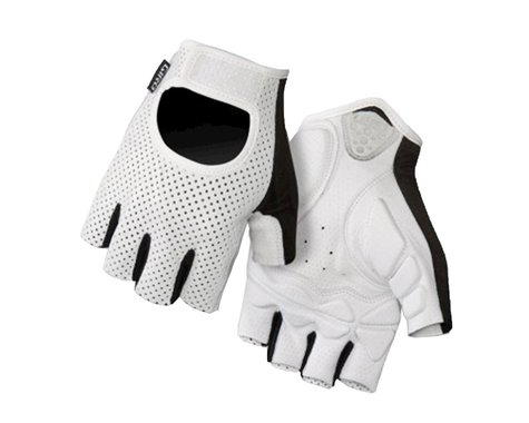 Giro LX Short Finger Bike Gloves (White) (2016) (M)
