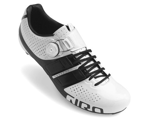 Giro Factor Techlace Road Shoes (White/Black) (45)