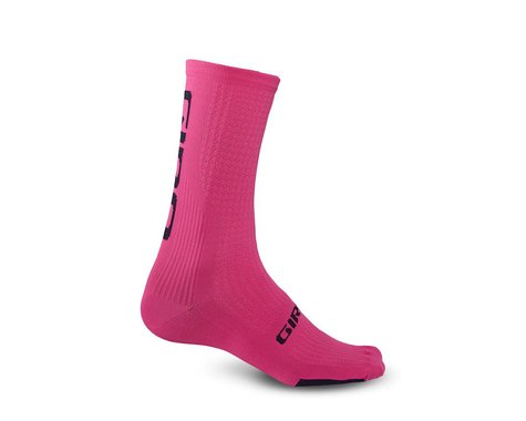 Giro HRc Team Socks (Bright Pink/Black) (L)