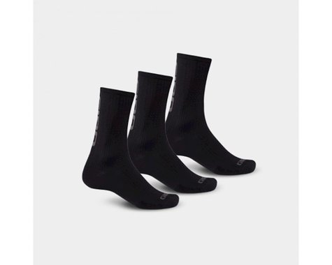 Giro HRc Team Socks -- 3-pack (Black/Dark Shadow)