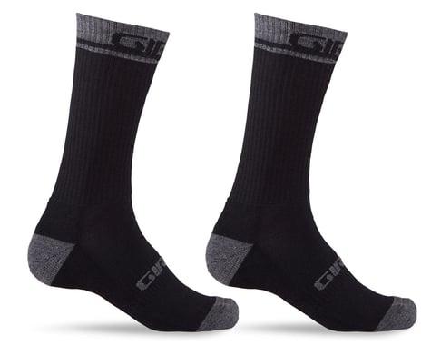 Giro Winter Merino Wool Socks (Black/Dark Shadow) (L)