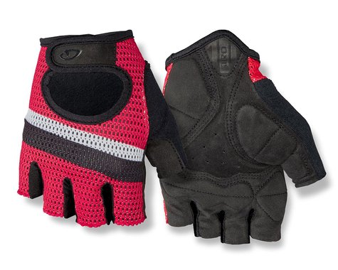 Giro SIV Retro Short Finger Bike Gloves (Red/White Stripe) (XS)
