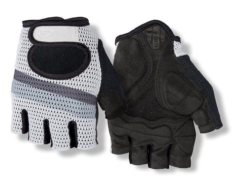 Giro SIV Retro Short Finger Bike Gloves (White/Grey Stripe) (S)
