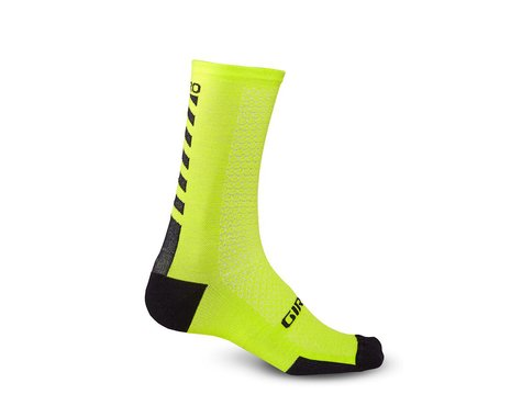 Giro HRc+ Merino Wool Socks (Bright Lime/Black) (S)
