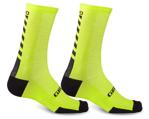 Giro HRc+ Merino Wool Socks (Bright Lime/Black) (XL)