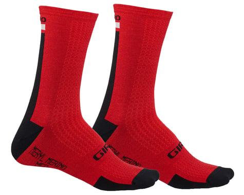 Giro HRc+ Merino Wool Socks (Dark Red/Black/Grey) (S)