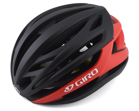 Giro Syntax MIPS Road Helmet (Matte Black/Bright Red) (L)